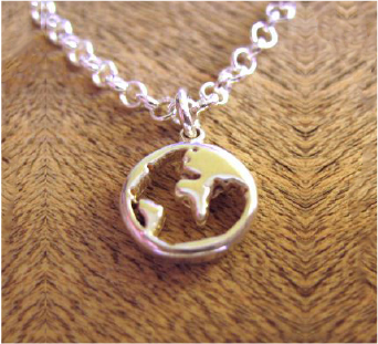 Love Earth Charm Necklace